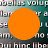 An opaque orange circle sits atop a background